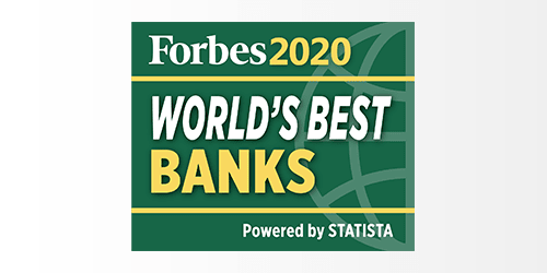People's United Bank has been ranked a 2020 World's Best Bank by Forbes