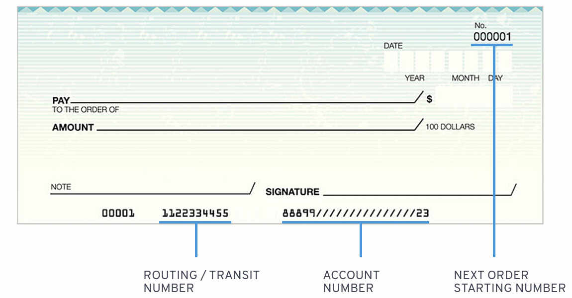 How to order checks and set up direct deposit