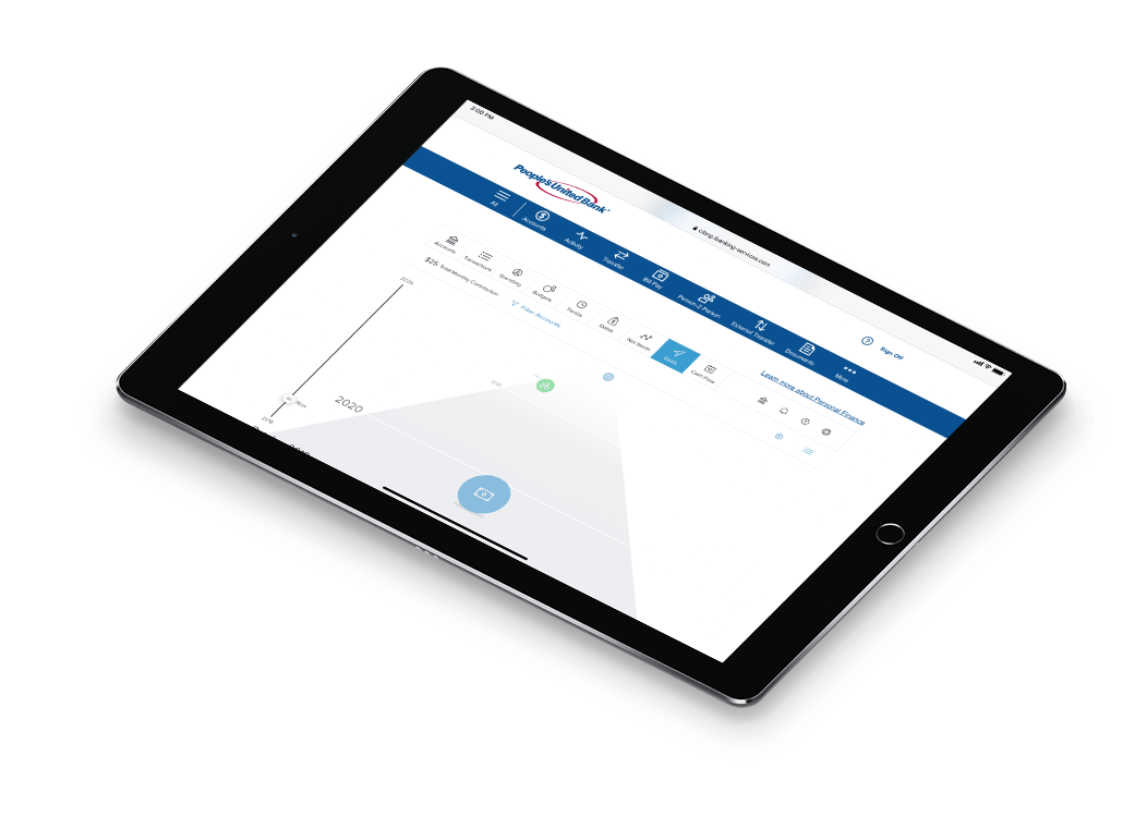 Personal Finance shown on a tablet featuring financial goal tracking